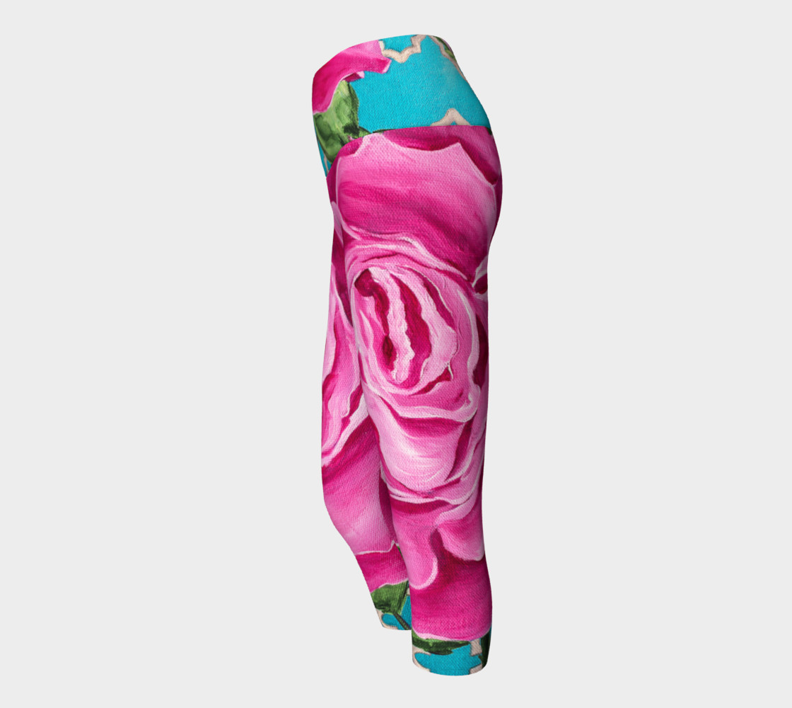 Mother's Day Roses Yoga Capris preview #2