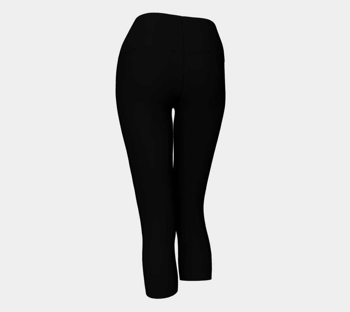 Black as Night Sky Yoga Capris preview #3