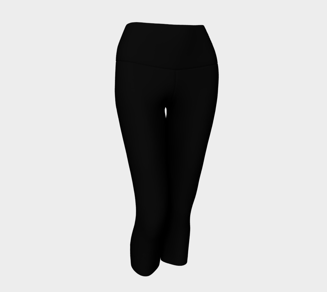 Black as Night Sky Yoga Capris preview #1