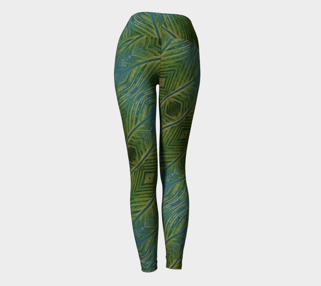 Leaf yoga leggings Miniature #5