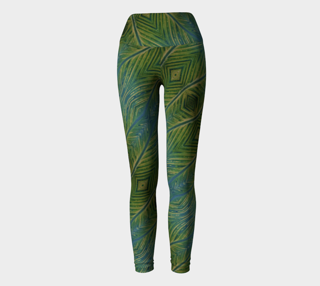 Leaf yoga leggings Miniature #3