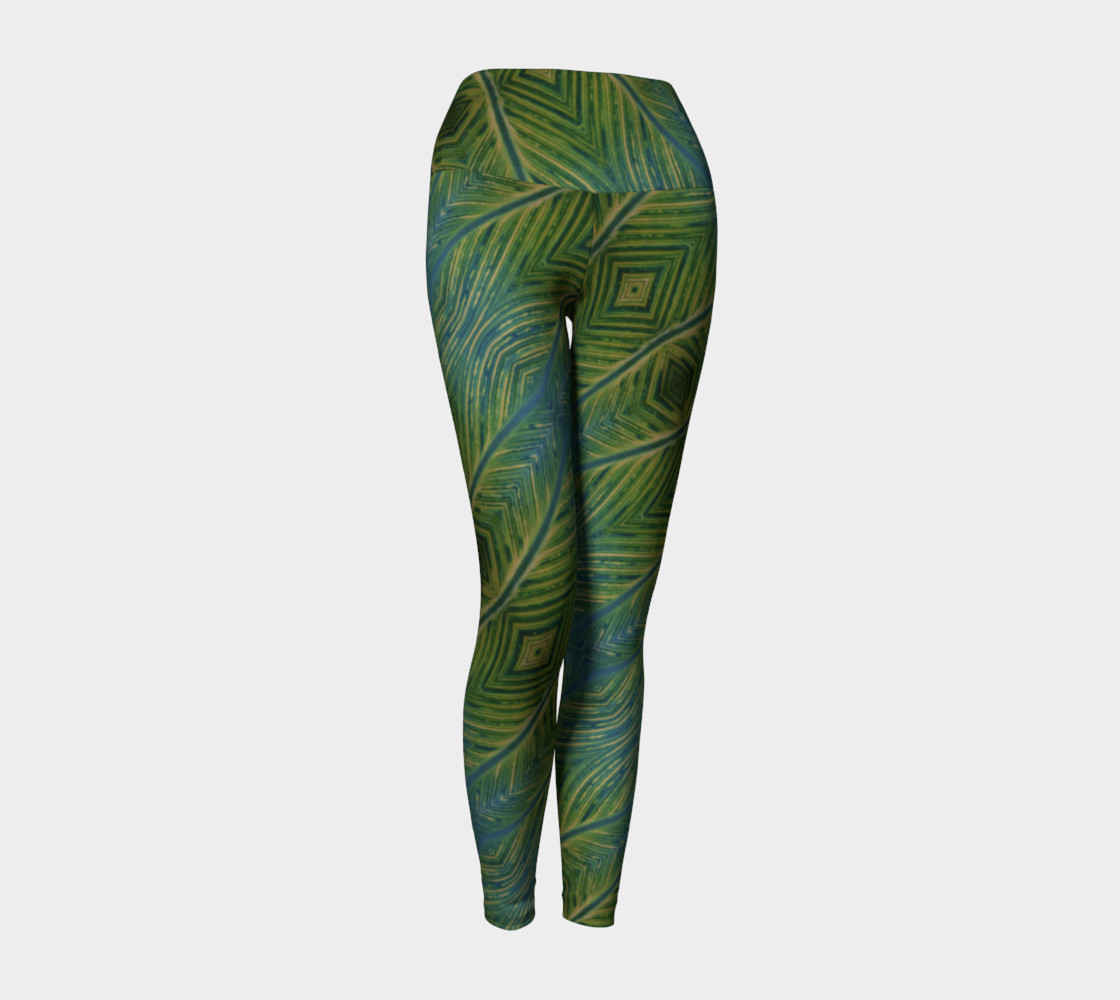 Leaf yoga leggings Miniature #2