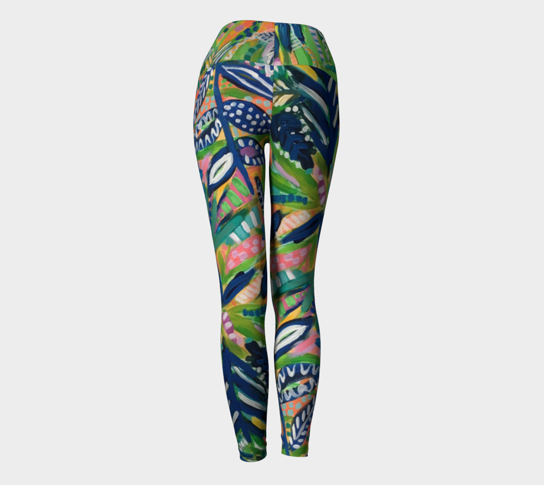 Jungle Jive- Yoga Leggings preview #4