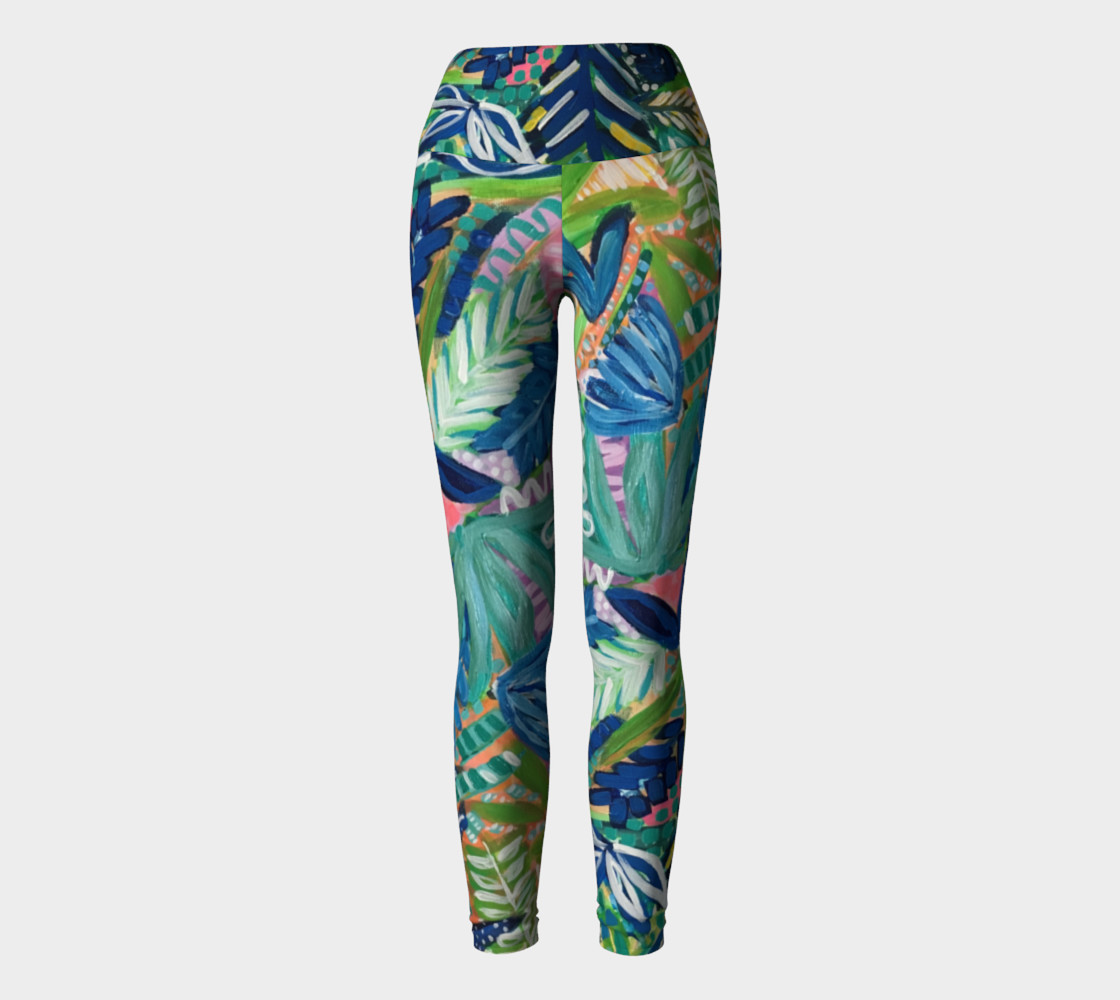 Jungle Jive- Yoga Leggings preview #2