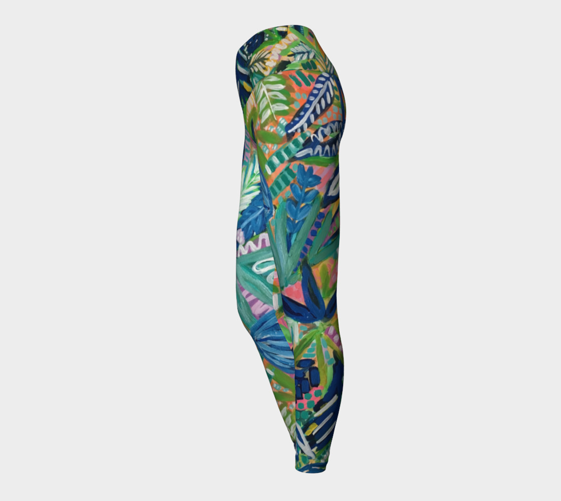 Jungle Jive- Yoga Leggings preview #3