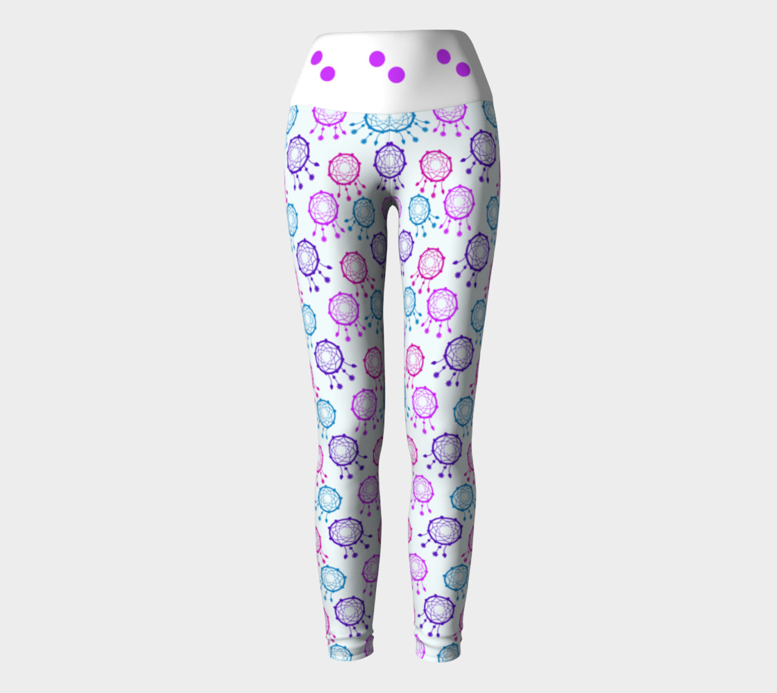 Aperçu de Cute pink  balls dreamcatcher leggings #2