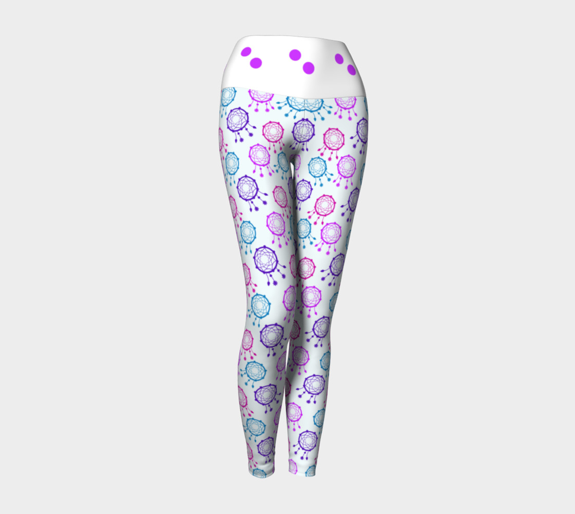 Aperçu de Cute pink  balls dreamcatcher leggings #1