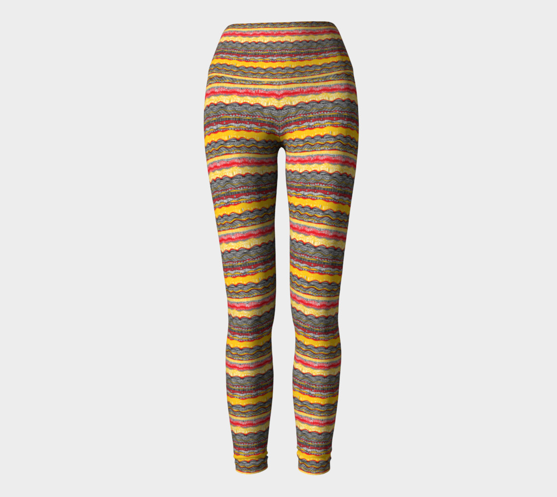 Yellow Boho leggings preview #2