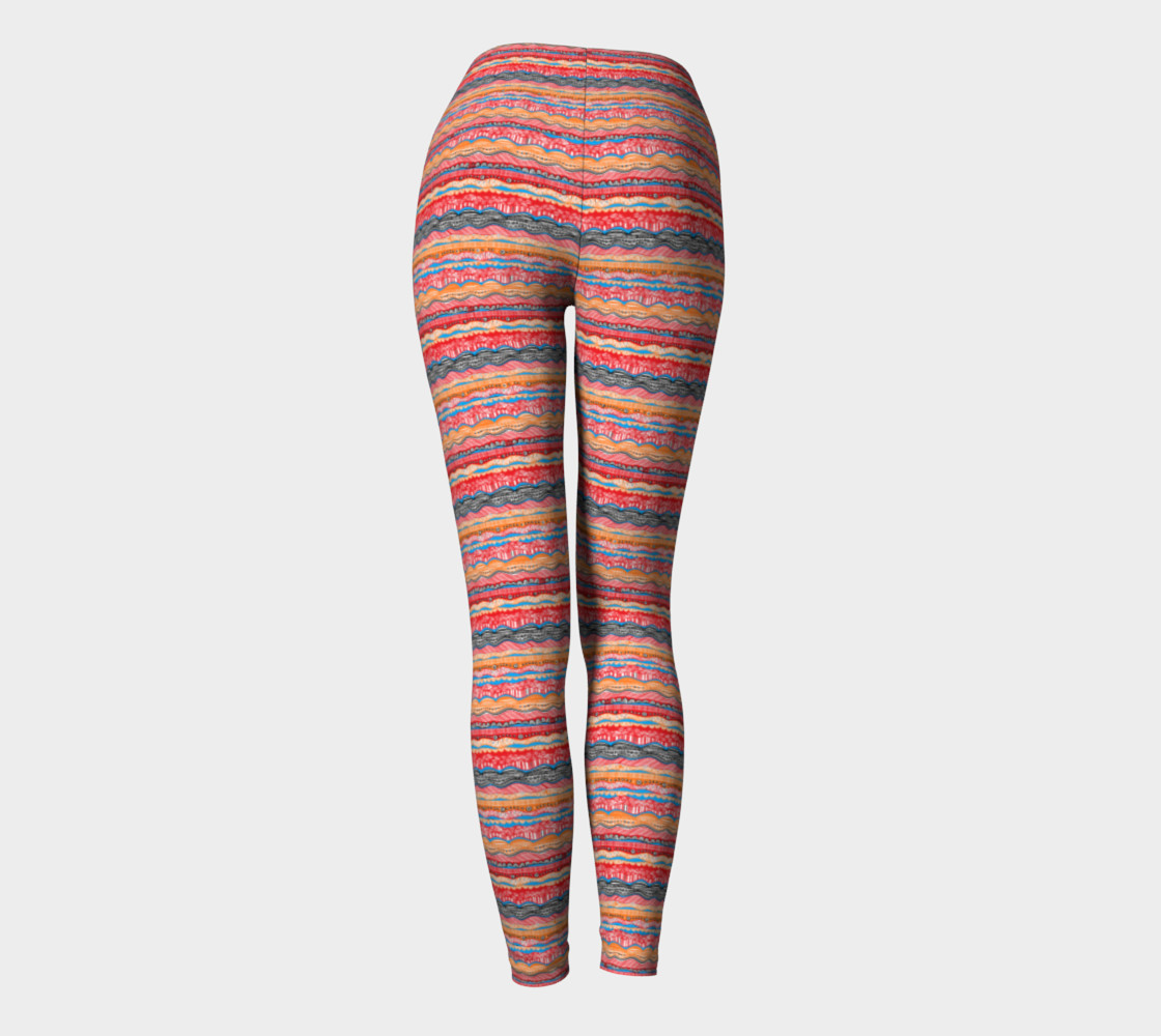 Aperçu de Red Bohemian Yoga Leggings #4
