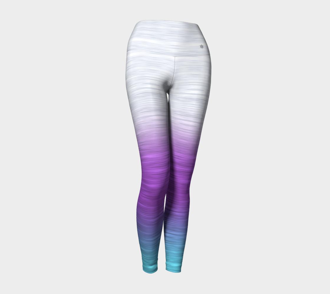 Aperçu de Rainbow Ombre White Lavender Turquoise #1