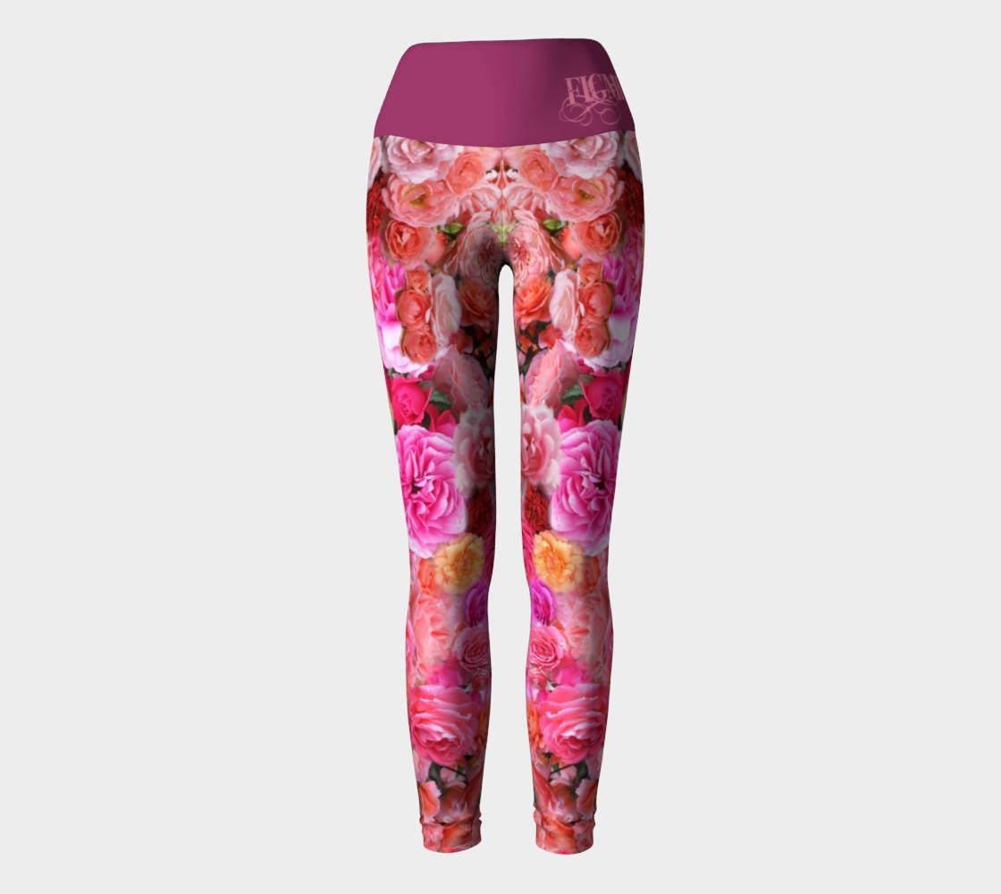 Rose Yoga Leggings preview #2