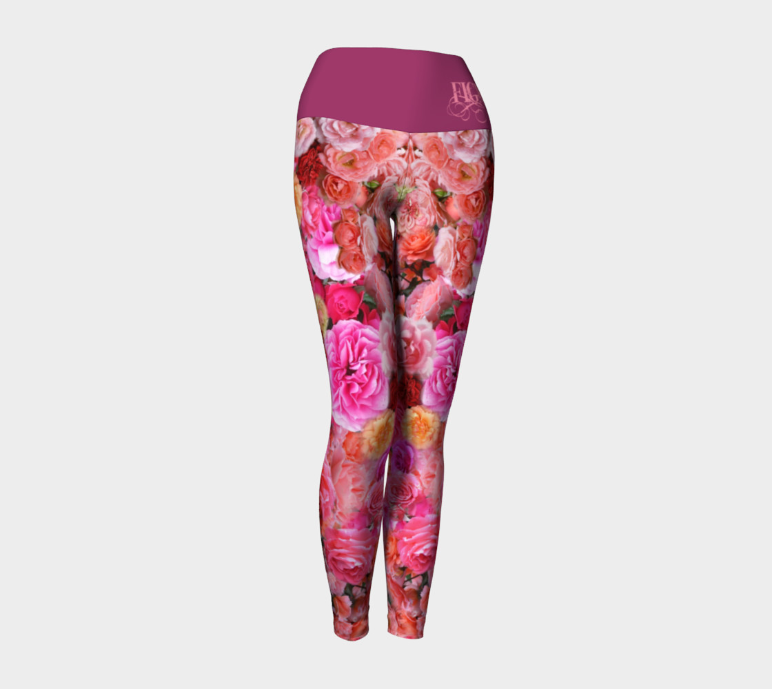 Rose Yoga Leggings preview #1