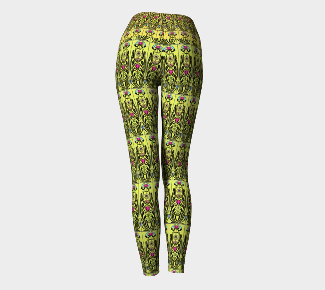 Aperçu de Yellow Nouveau Yoga Leggings #4