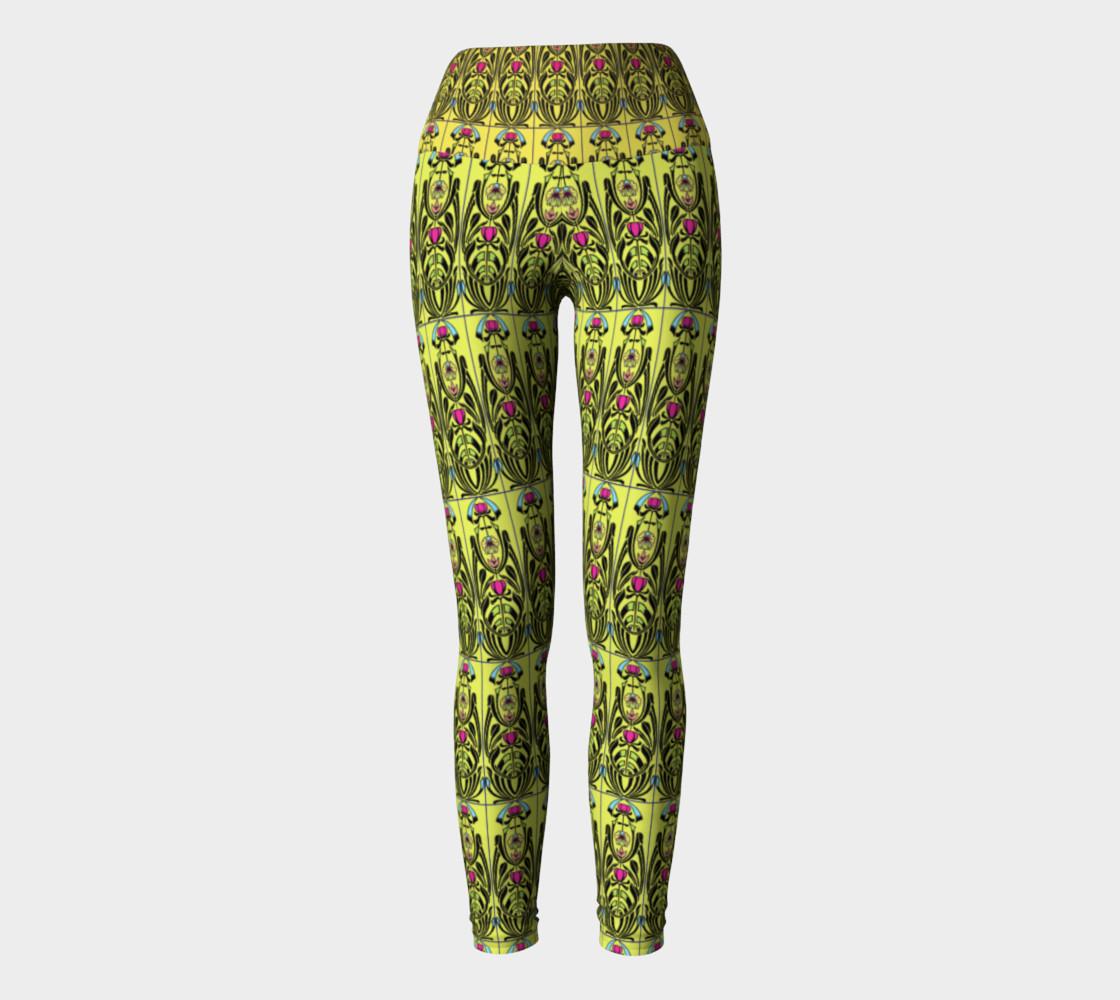 Aperçu de Yellow Nouveau Yoga Leggings #2