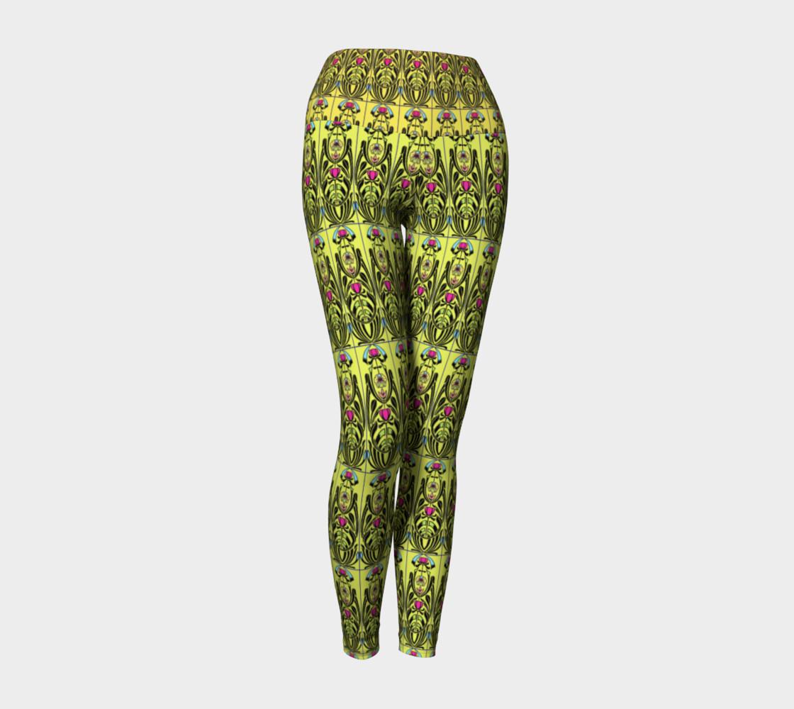 Aperçu de Yellow Nouveau Yoga Leggings #1