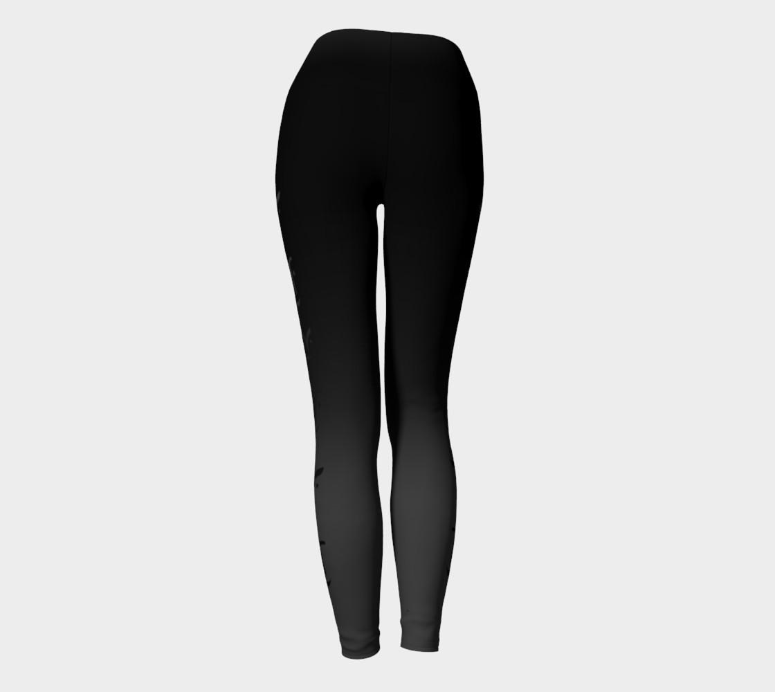 Black Ombre Yoga Leggings preview #4