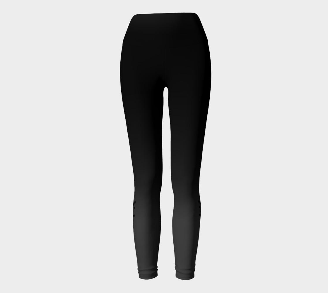 Black Ombre Yoga Leggings preview #2