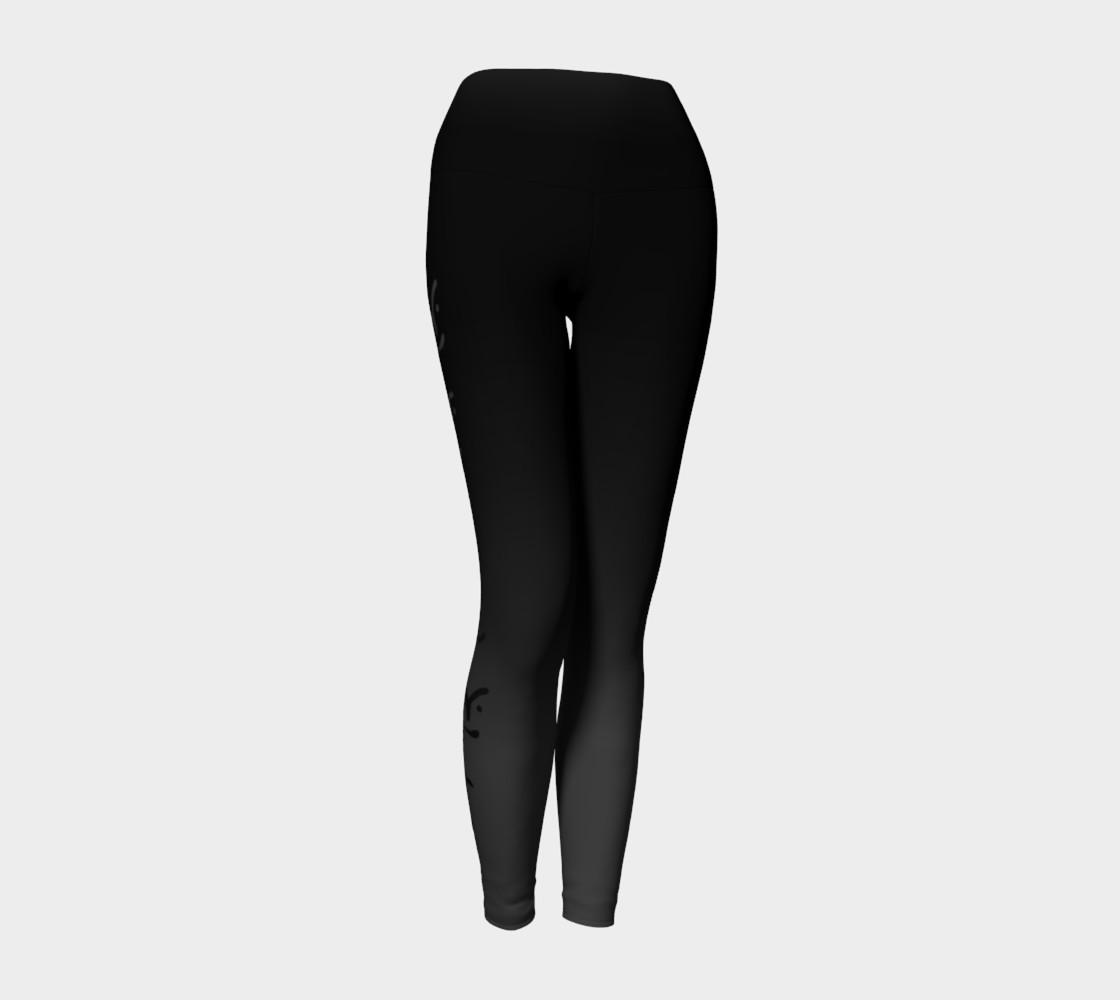 Black Ombre Yoga Leggings preview #1