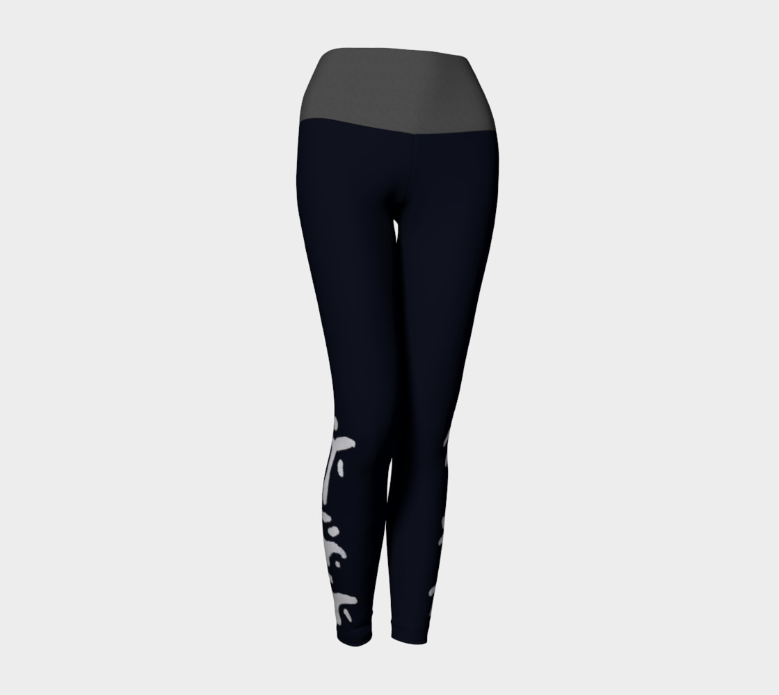 Black yogas with grey band preview #1