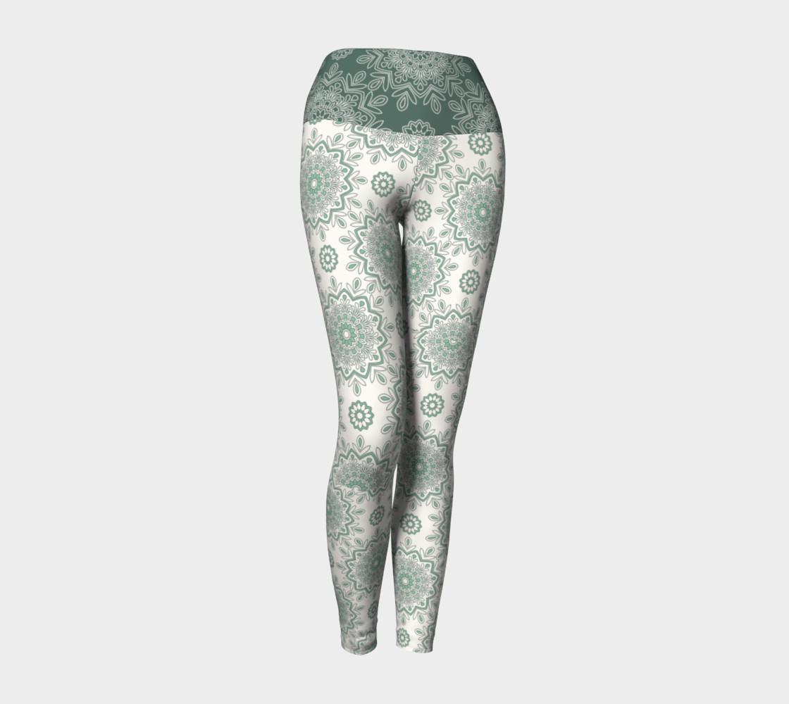 Mystic Mandala Green Yoga Leggings preview #1