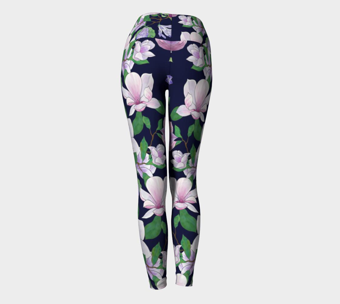 Magnolia Floral Frenzy Yoga Leggings preview #4