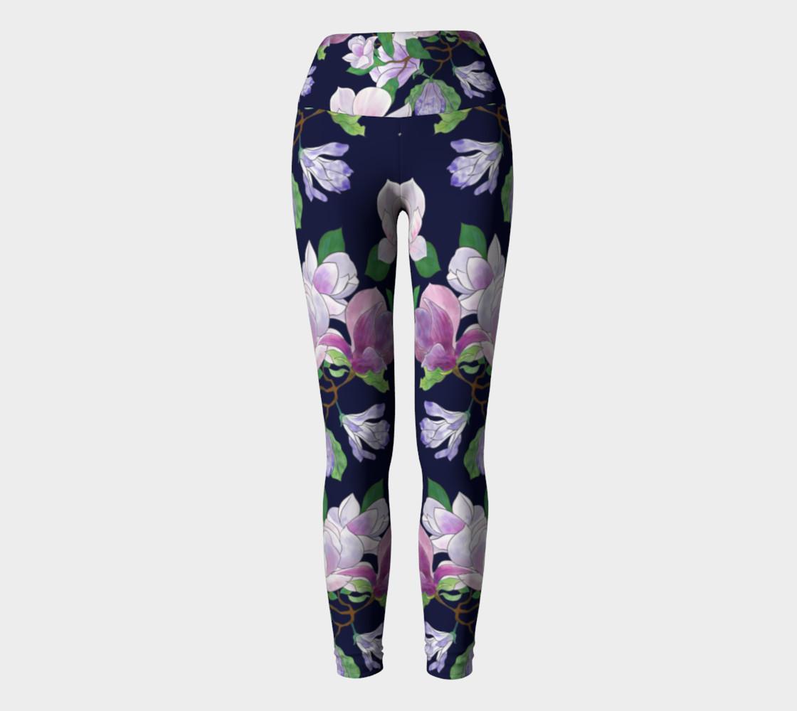 Magnolia Floral Frenzy Yoga Leggings preview #2
