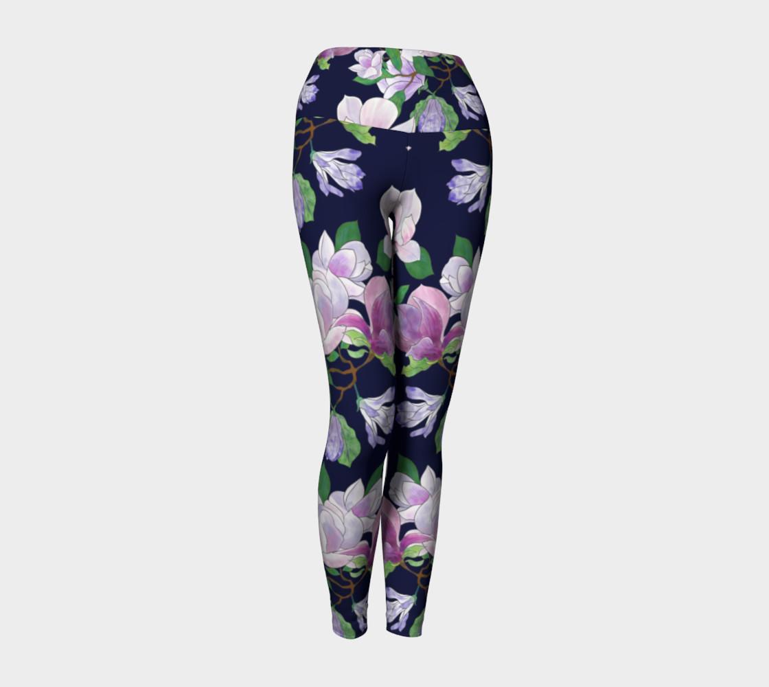 Magnolia Floral Frenzy Yoga Leggings preview #1