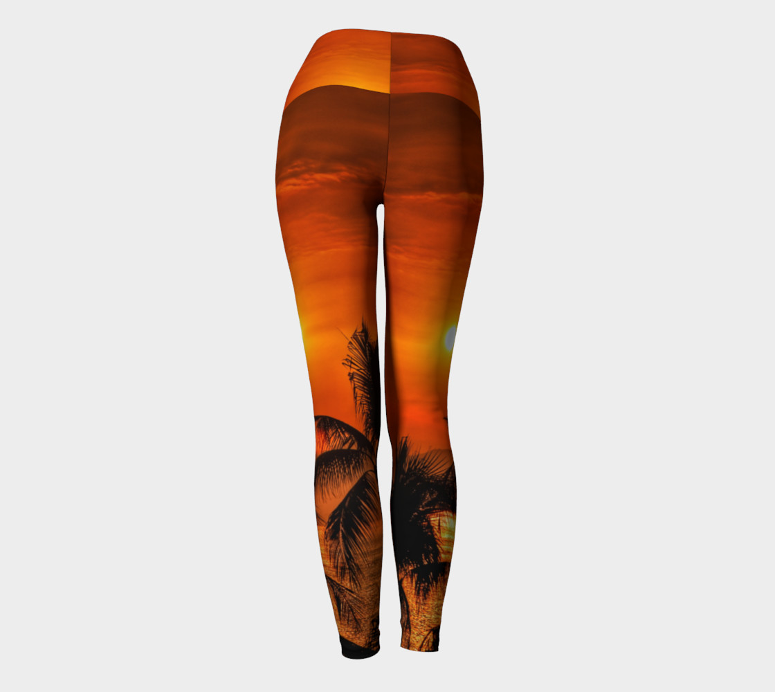 Mexican Sunrise Yoga Leggings preview #4