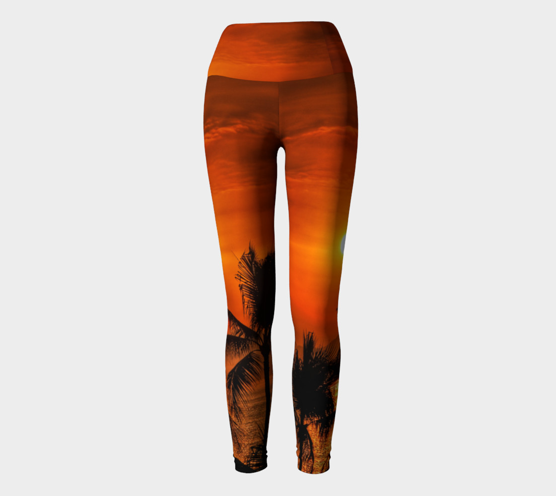 Mexican Sunrise Yoga Leggings preview #2