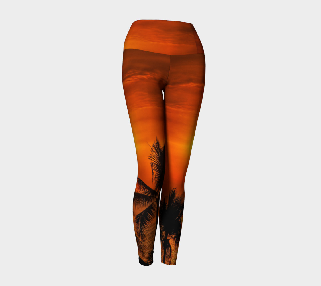 Mexican Sunrise Yoga Leggings preview #1