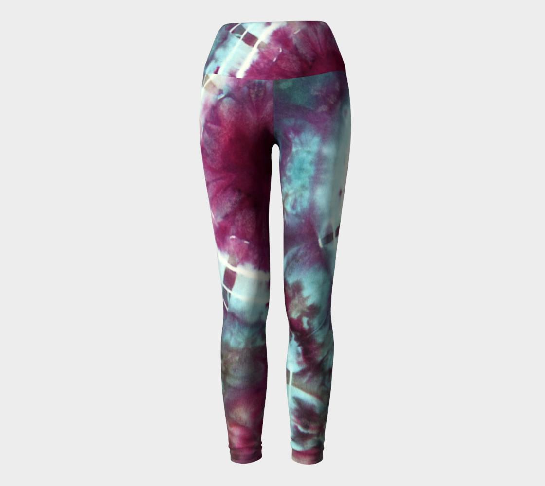 Pink Circles Yoga Leggings preview #2