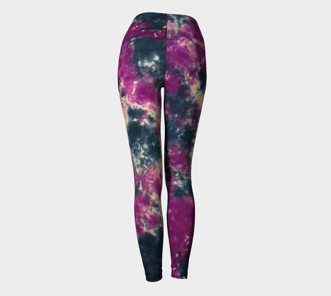 Blue Purple Scrunch Yoga Leggings thumbnail #5