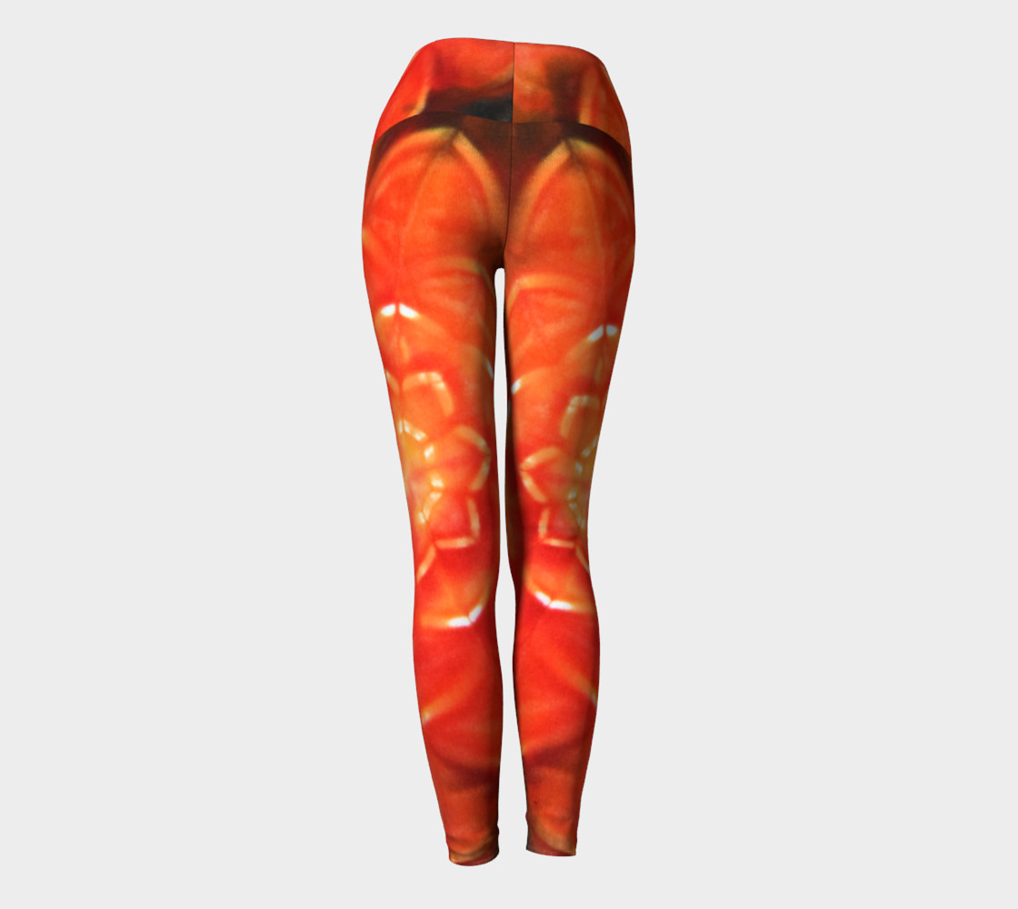 Orange Lotus Yoga Leggings thumbnail #5