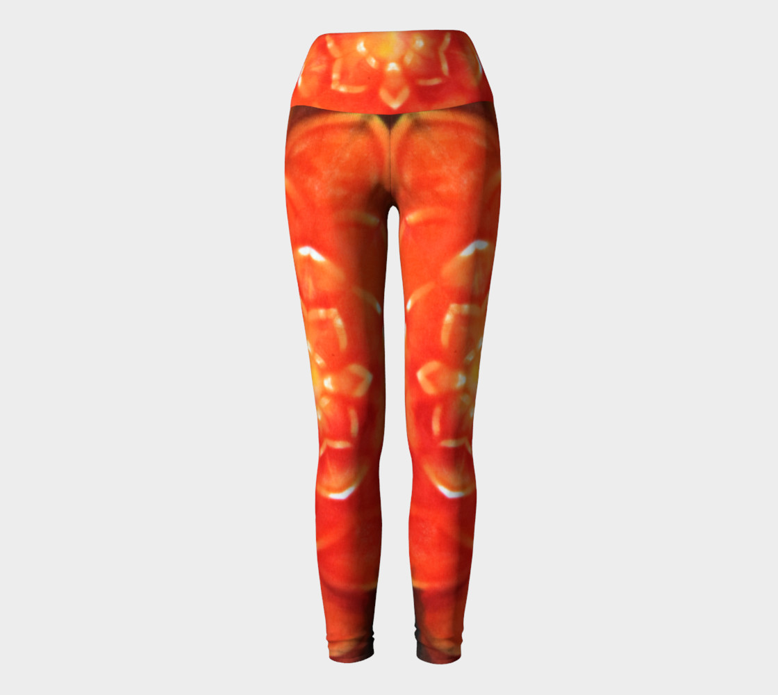 Orange Lotus Yoga Leggings thumbnail #3