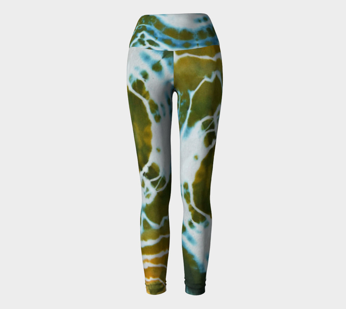 Green Geode Yoga Leggings thumbnail #3