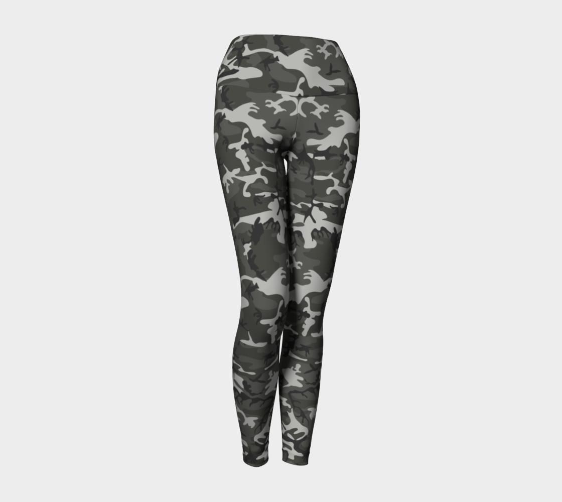 Winter Camo Yoga Leggings preview #1
