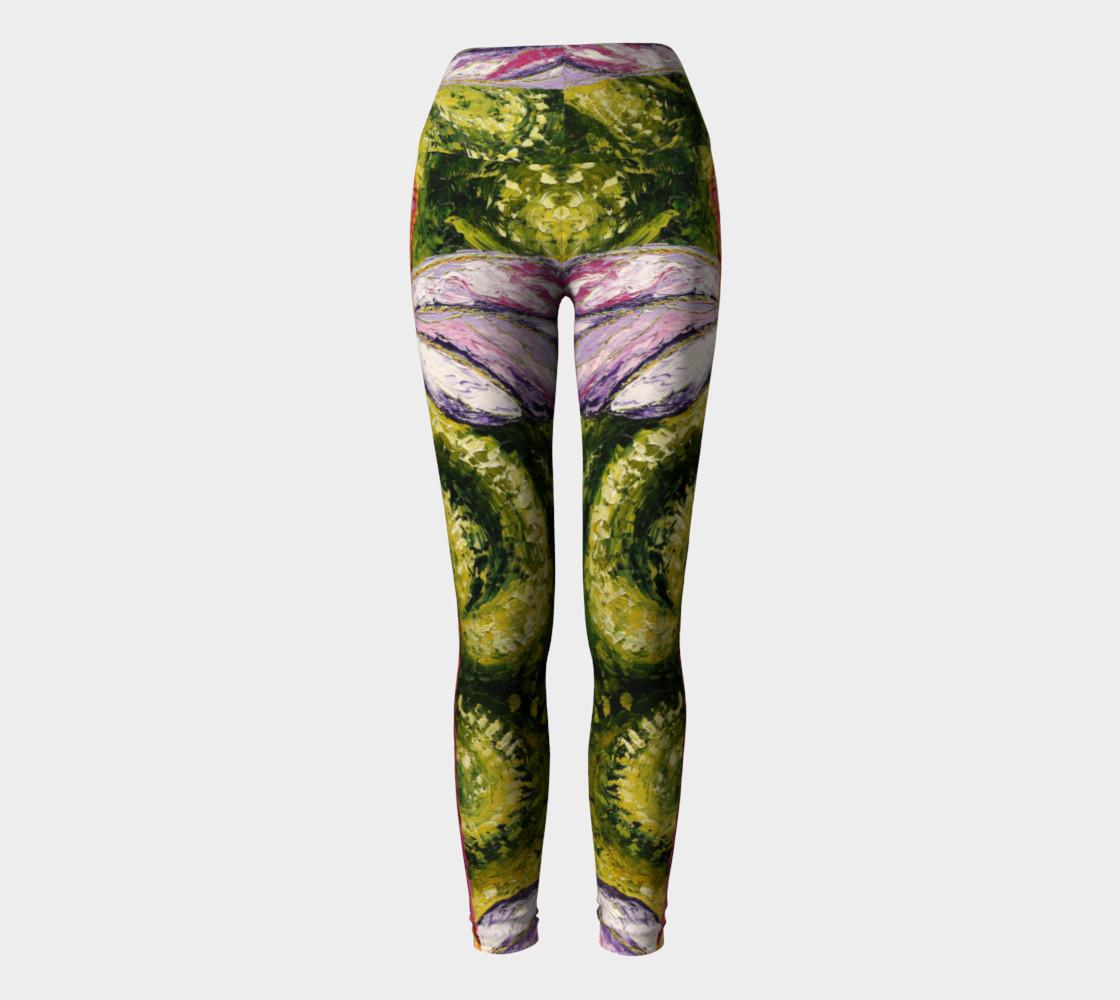 green dragon yoga pant preview #2