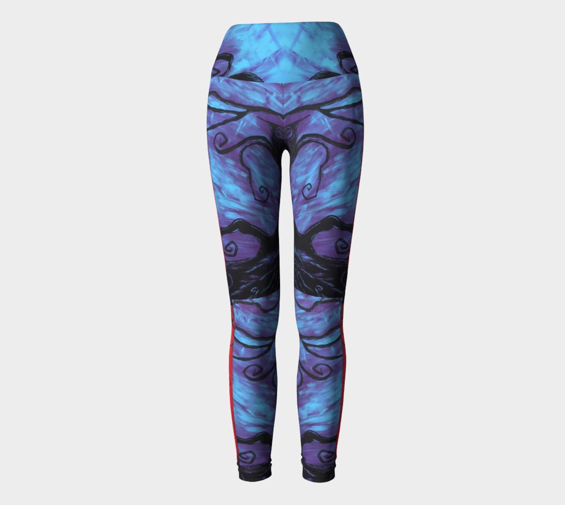 Mystic Night Yoga Leggings preview #2