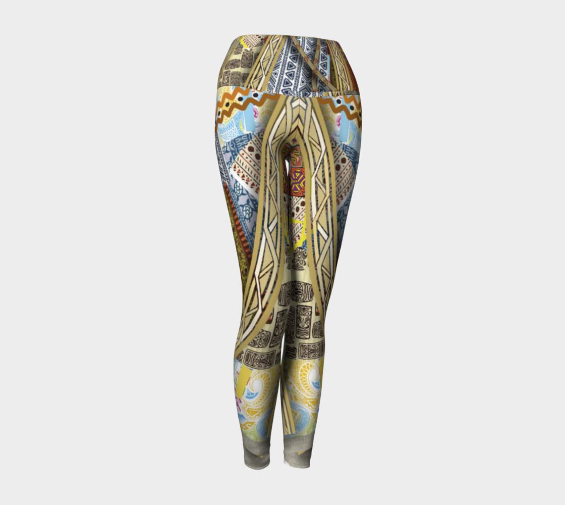 BORDER LAYERED Yoga Leggings   101-1  preview #1