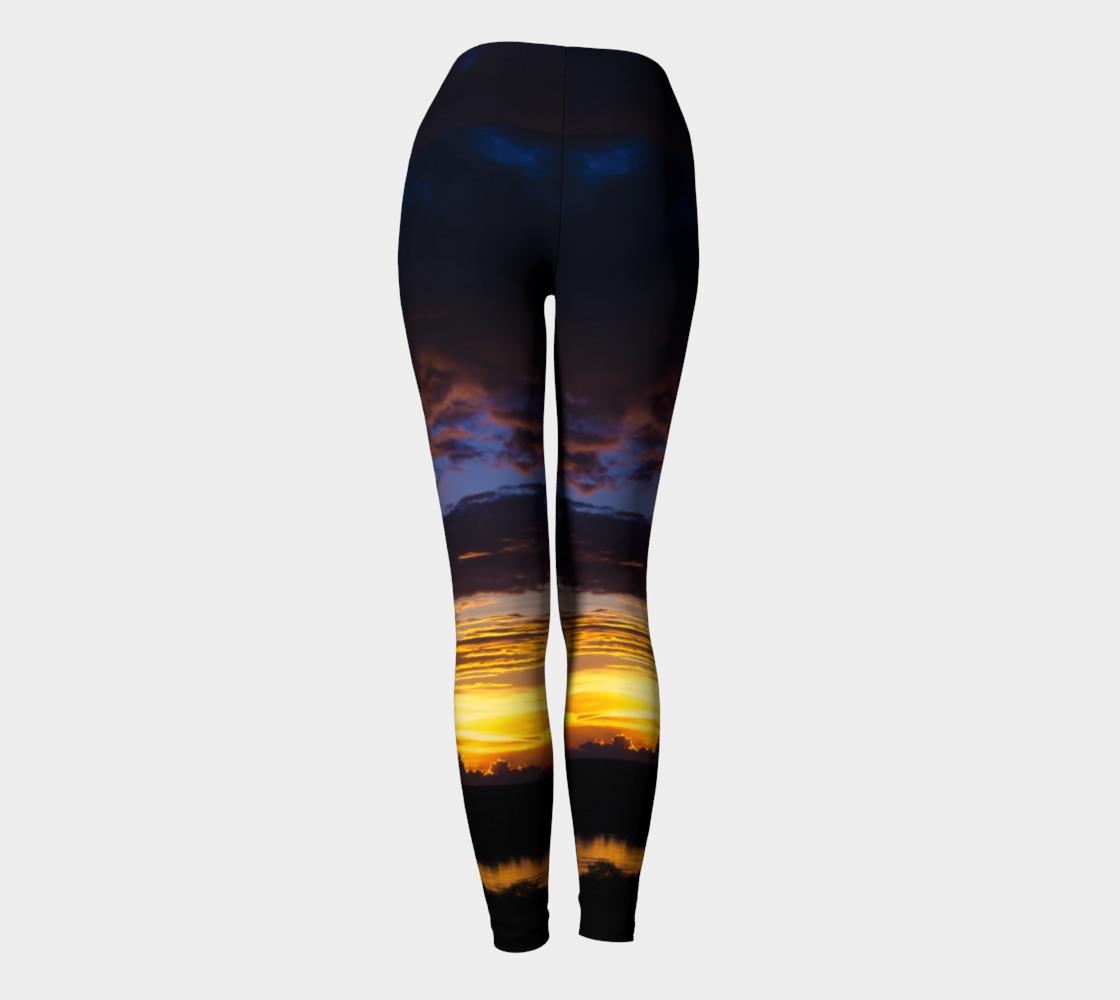Sunset II Yoga Leggings preview #4