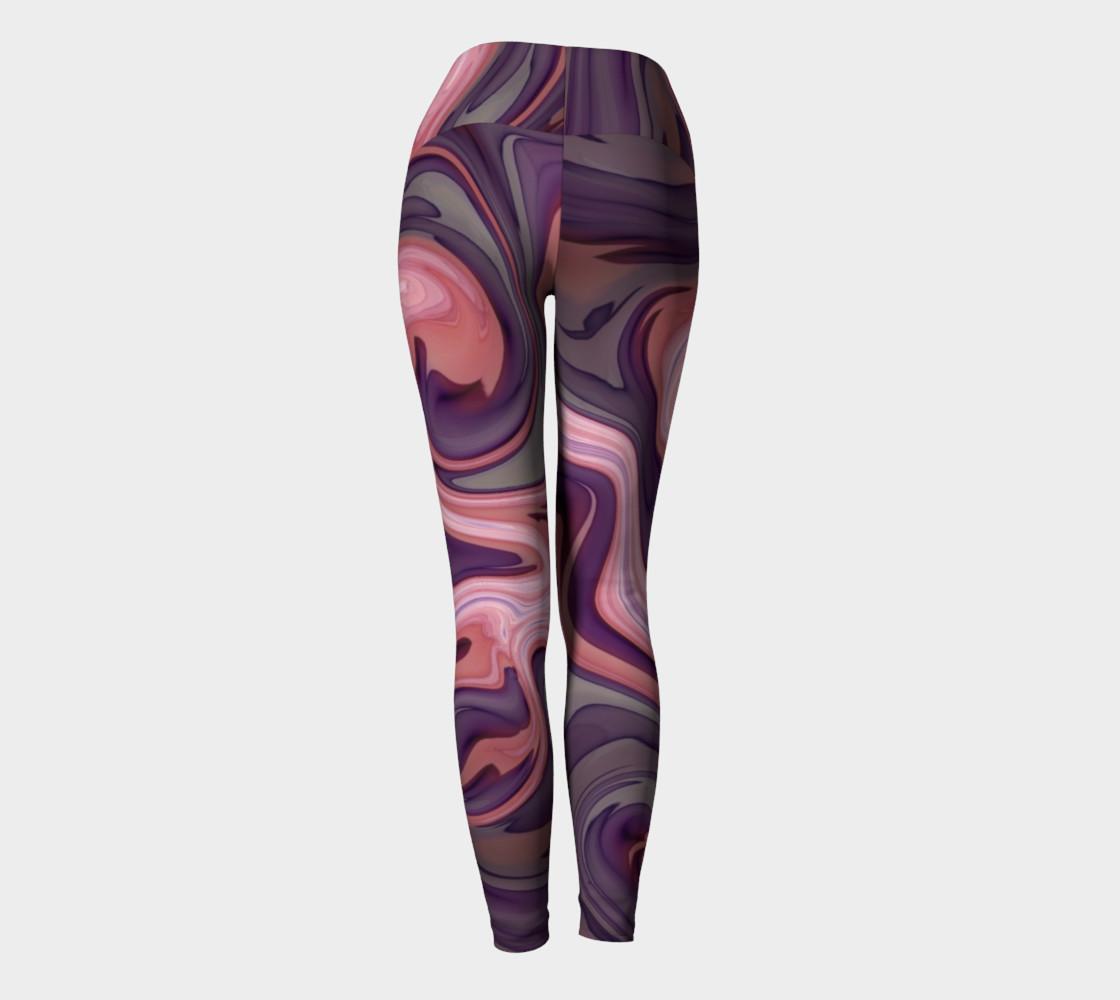 Pink Swirly Yoga Leggings preview #4