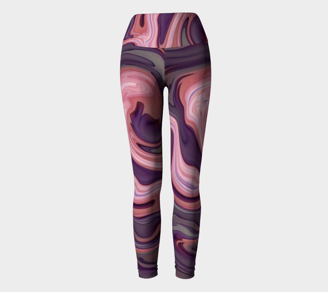 Pink Swirly Yoga Leggings preview #2