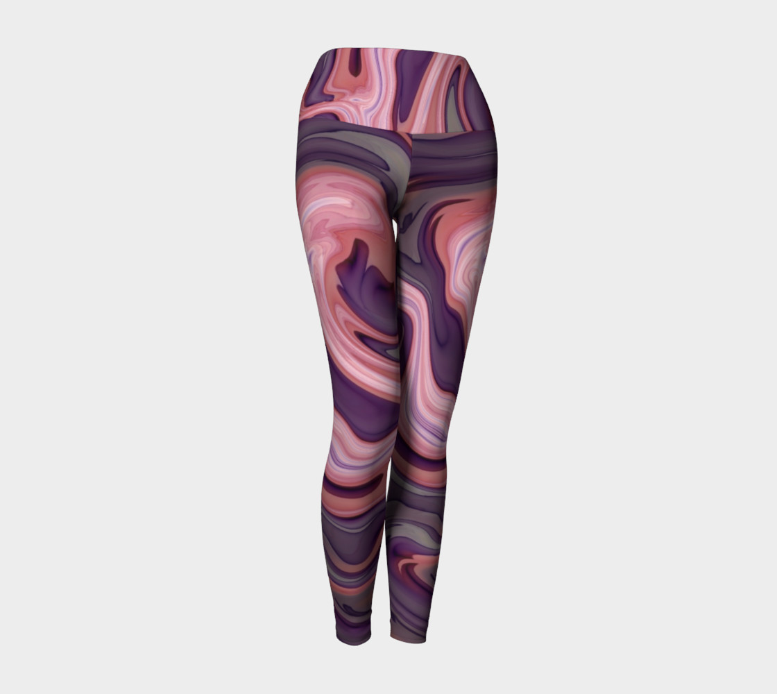 Pink Swirly Yoga Leggings preview #1