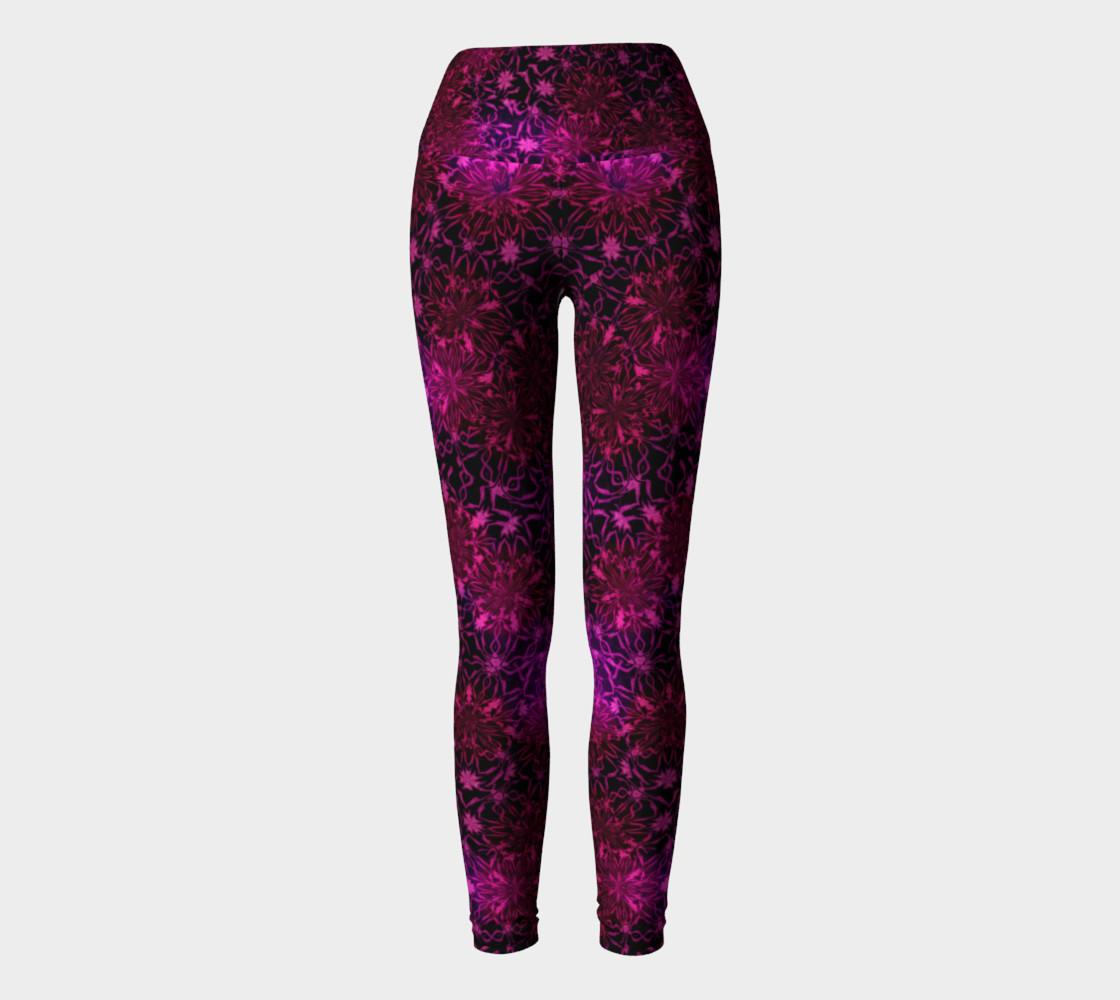 Purple Happiness Yoga Leggings preview #2