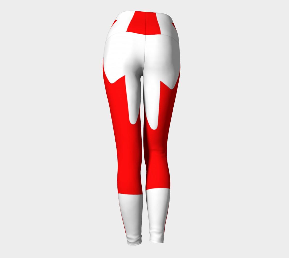 Canadian Flag Yoga Leggings preview #4