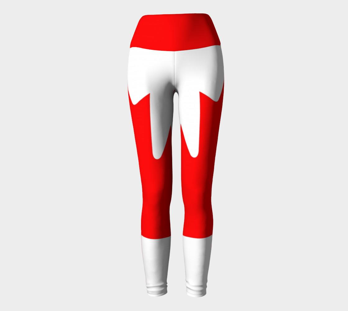 Canadian Flag Yoga Leggings preview #2