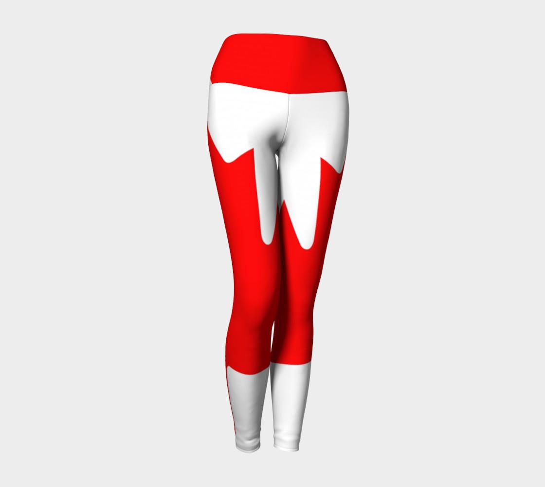 Canadian Flag Yoga Leggings preview #1