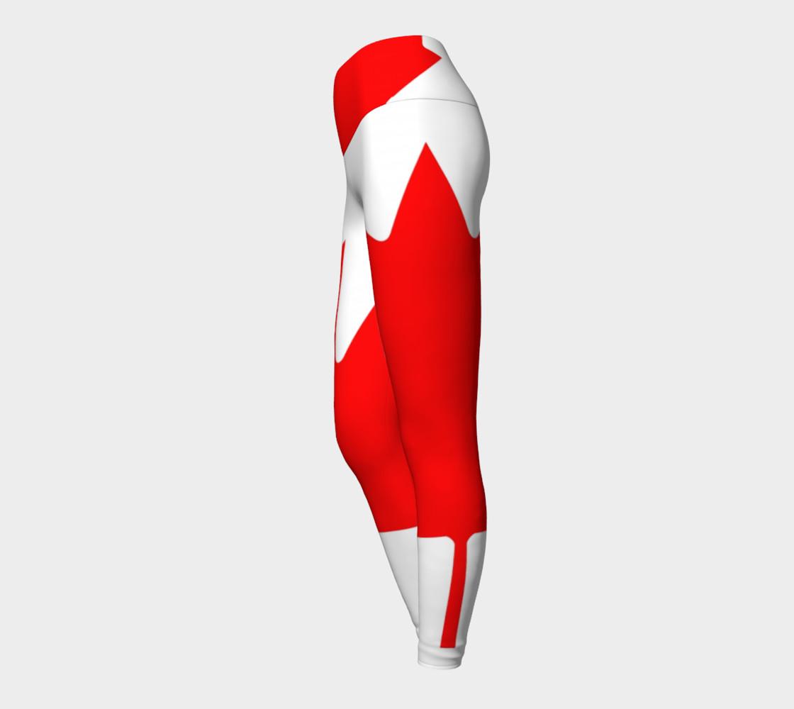 Canadian Flag Yoga Leggings preview #3