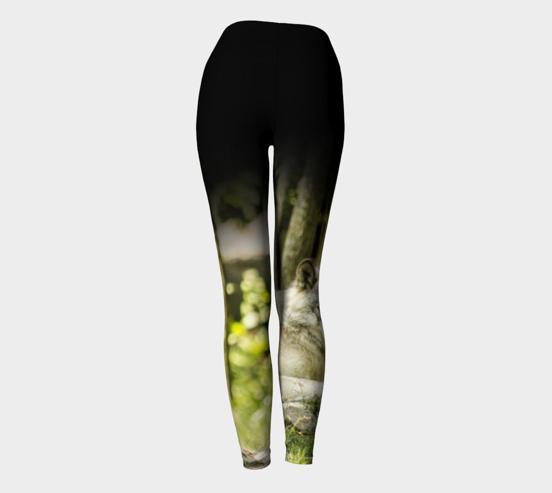 Timber Wolf Yoga Leggings preview #4