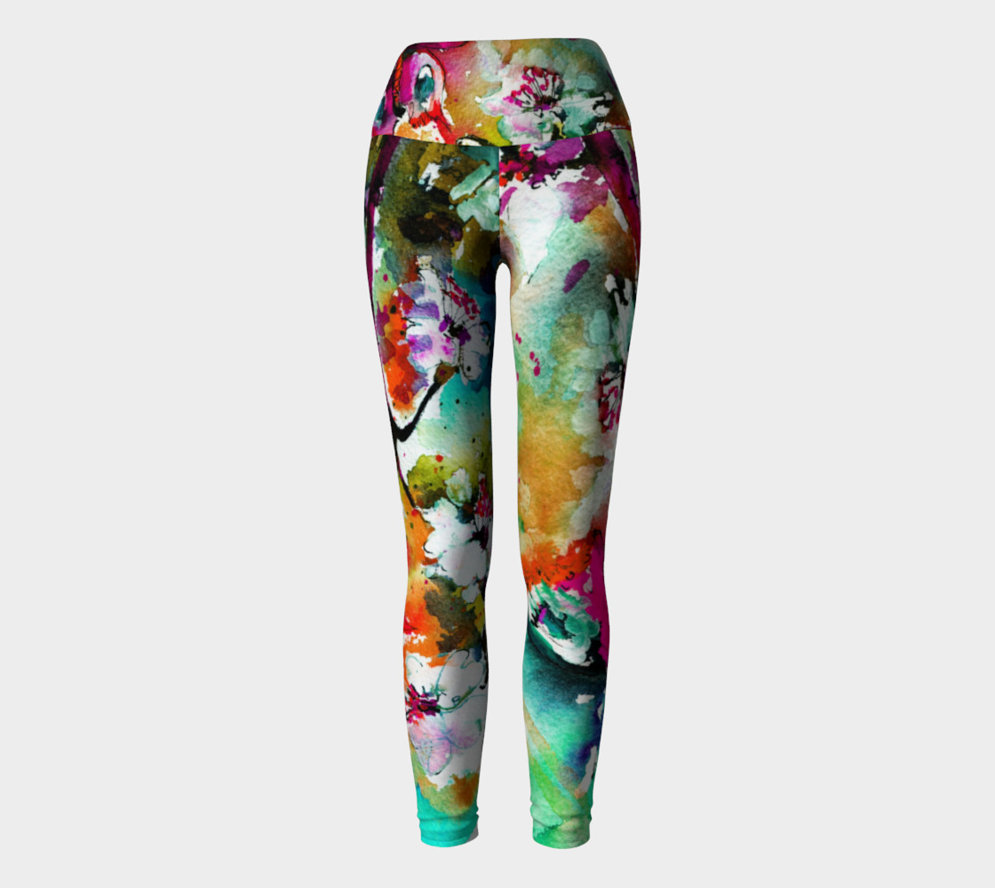 Pink Butterfly Yoga Leggins preview #2